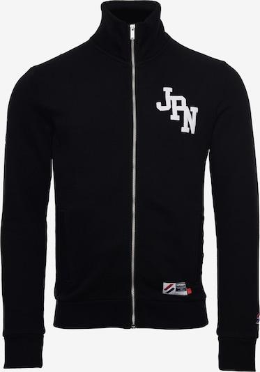 Superdry Tepláková bunda - čierna / biela, Produkt