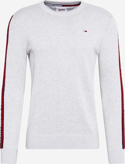 Pulover Tommy Jeans pe navy / gri deschis / roșu / alb, Vizualizare produs