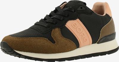 BJÖRN BORG Sneakers 'R455 CTR' in Brown / Apricot / Black, Item view
