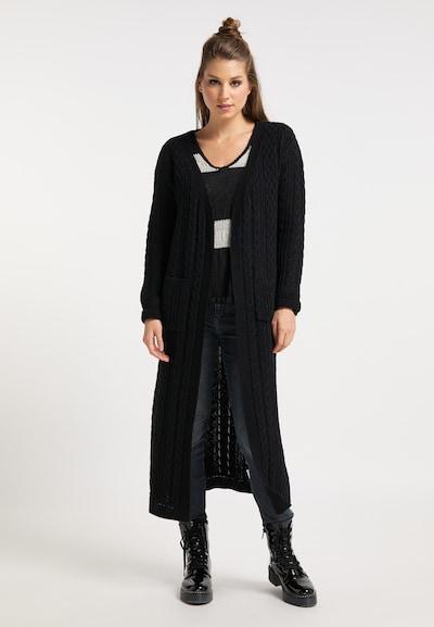 myMo ROCKS Strickmantel in schwarz, Modelansicht
