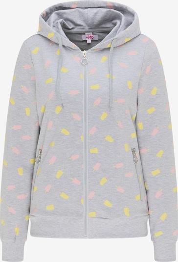 MYMO Tepláková bunda - žltá / sivá melírovaná / svetloružová, Produkt