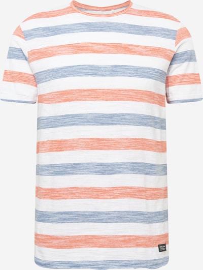 BLEND Tričko - modrosivá / oranžovo červená / biela, Produkt