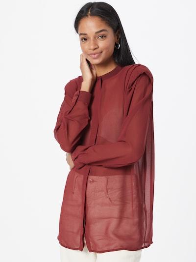 NU-IN Bluse in weinrot, Modelansicht