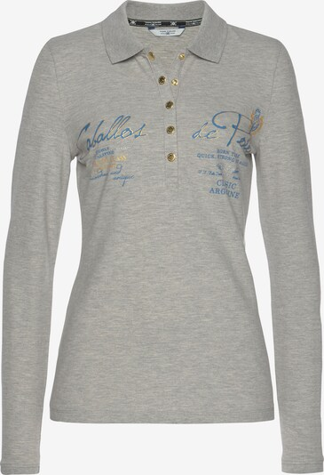 Tom Tailor Polo Team Shirt in Light blue / mottled grey, Item view