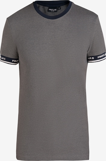 Finn Flare Kurzarmshirt für Herren mit bequemem Schnitt in grau, Produktansicht