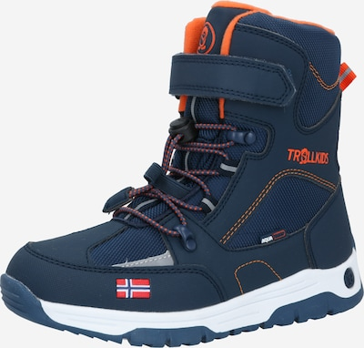 TROLLKIDS Winterstiefel 'LOFOTEN' in dunkelblau / orange, Produktansicht