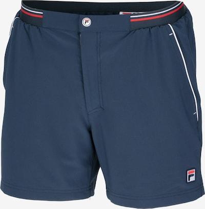 FILA Sportshorts in nachtblau / rot / weiß, Produktansicht