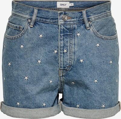 Pantaloni ONLY pe albastru / alb, Vizualizare produs