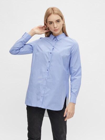 PIECES Bluse 'Siva' in blau, Modelansicht
