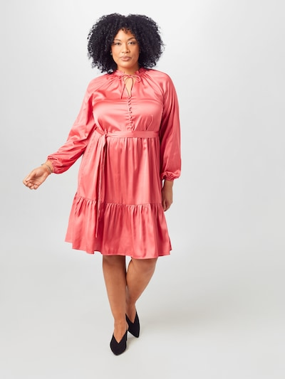 Guido Maria Kretschmer Curvy Collection Robe de cocktail 'Rosalie' en rose, Vue avec modèle