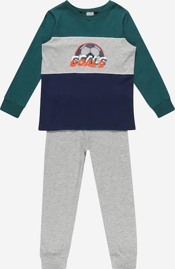 SCHIESSER Pajamas in Navy / mottled grey / Dark green, Item view