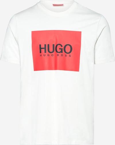 HUGO Shirt 'Dolive' in rot / schwarz / naturweiß, Produktansicht