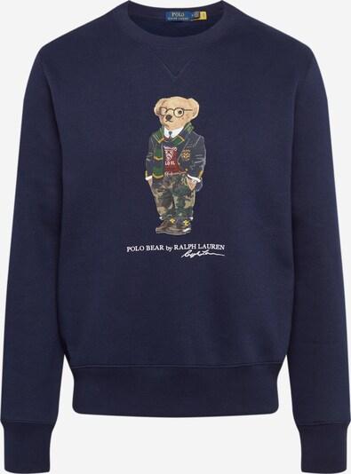 POLO RALPH LAUREN Mikina - béžová / námořnická modř / zelená, Produkt