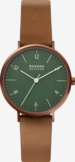 SKAGEN Analog Watch in Light brown / Emerald / White, Item view