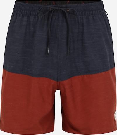 QUIKSILVER Kupaće hlače u siva melange / crvena melange, Pregled proizvoda