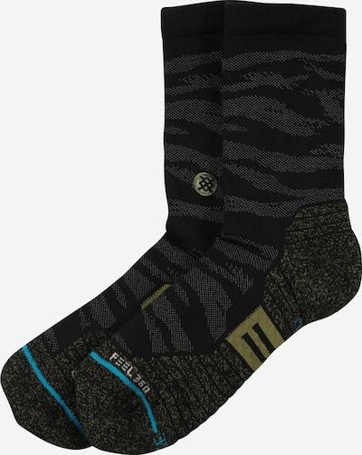 Stance Sportsokken in de kleur Olijfgroen / Zwart / Wit, Productweergave