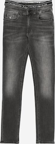 pelēks Calvin Klein Jeans Džinsi 'SKINNY INFINITE GREY STRETCH'