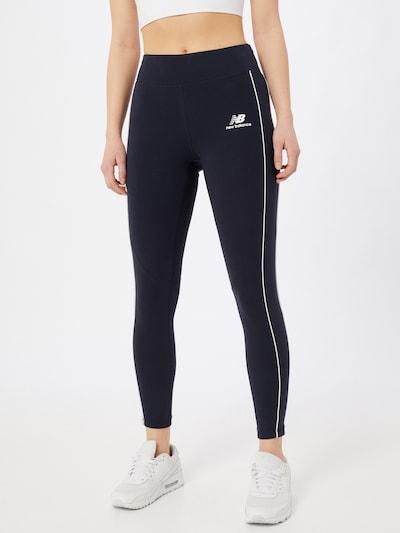 new balance Leggings in nachtblau / weiß, Modelansicht