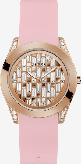 GUESS Analoguhr in rosegold / rosa, Produktansicht