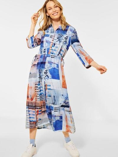 CECIL Košilové šaty - královská modrá / pastelová modrá / oranžová, Model/ka
