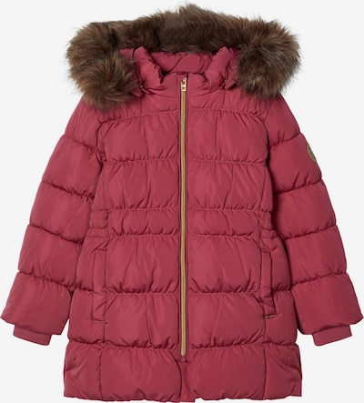 NAME IT Winterjacke 'Molly' in dunkelbraun / pastellrot, Produktansicht