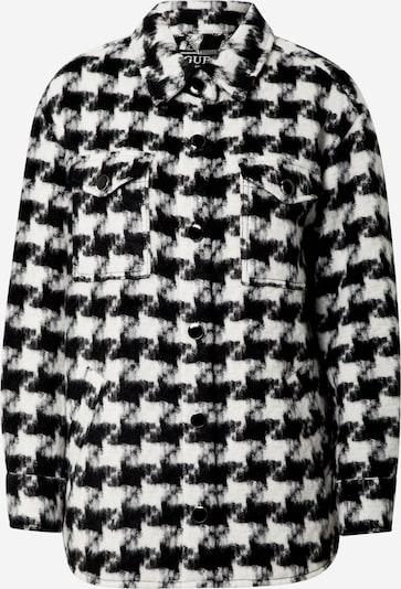 GUESS Prijelazna jakna 'Winona' u crna / bijela: Prednji pogled