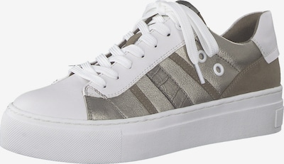 MARCO TOZZI Sneakers in Brown / Silver / White, Item view
