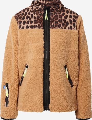 Crās Fleece Jacket 'Adelecras' in Brown