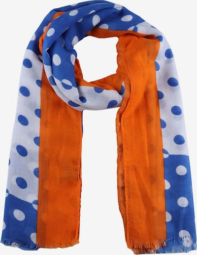Zwillingsherz Šála - modrá / tmavě oranžová / bílá, Produkt