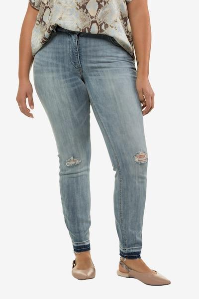 Studio Untold Jeans in grey denim, Modelansicht