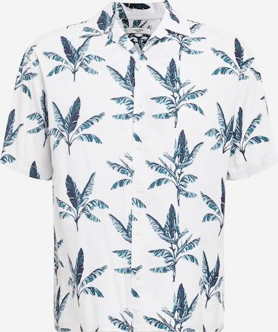 JACK & JONES Hemd 'BLALEAF RESORT' in petrol / smaragd / weiß, Produktansicht