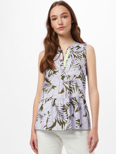 Emily Van Den Bergh Bluse in khaki / lavendel, Modelansicht