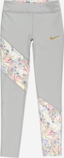 NIKE Sporthose in zitronengelb / pastellgelb / hellgrau / mint / rosa, Produktansicht
