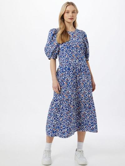 InWear Šaty 'Haruka' - modrá / oranžová / biela, Model/-ka