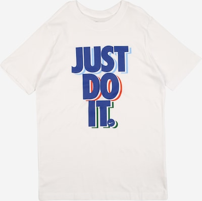 Nike Sportswear Shirt 'STACK' in blau / weiß, Produktansicht