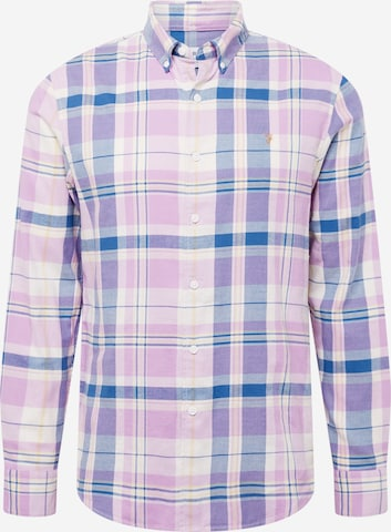 FARAH Button Up Shirt 'CLAYTON' in Purple