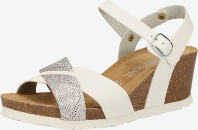 ROHDE Sandalen in silber / weiß, Produktansicht