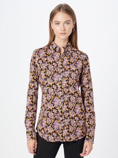 Polo Ralph Lauren Blusa en amarillo pastel / amarillo oscuro / lila / malva / negro, Vista del modelo