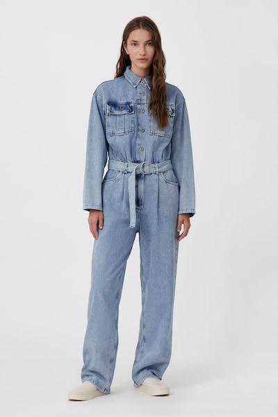 Finn Flare Jumpsuit in de kleur Lichtblauw, Modelweergave