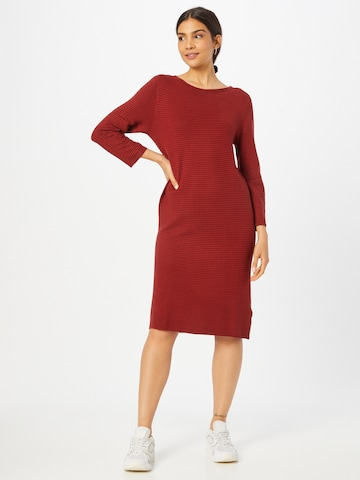 TOM TAILOR Knitted dress in Red