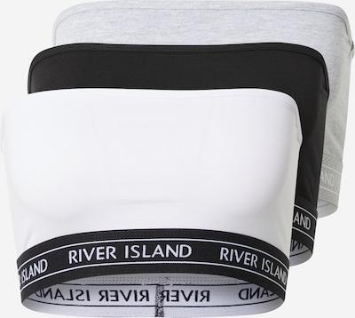 River Island Bra in marine / grey mottled / black / white, Item view