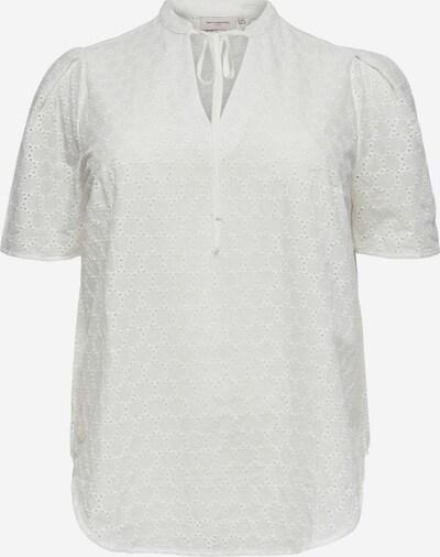 Bluză ONLY Carmakoma pe alb, Vizualizare produs