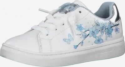 s.Oliver Sneaker in opal / hellblau / silber / weiß, Produktansicht