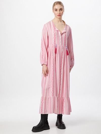Zwillingsherz Kleid 'Marou' in pink / weiß, Modelansicht