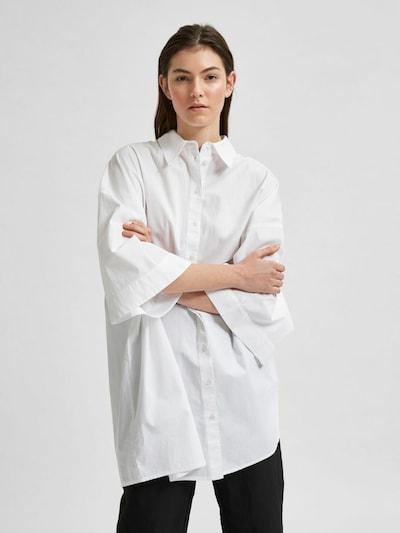 SELECTED FEMME Chemisier en blanc, Vue avec modèle