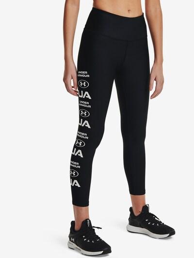 UNDER ARMOUR Sportovní kalhoty - černá / bílá, Model/ka