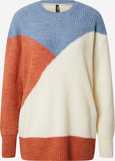 DeFacto Pullover in creme / rauchblau / orange, Produktansicht
