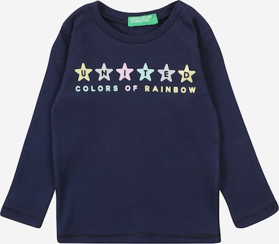 UNITED COLORS OF BENETTON T-Shirt en bleu nuit / bleu clair / jaune / gris clair / rose, Vue avec produit