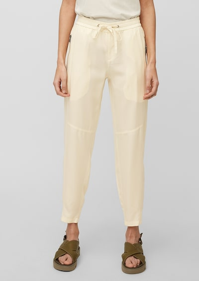 Marc O'Polo Pantalon 'Lonta' en beige, Vue avec modèle