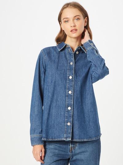 SELECTED FEMME Blūze 'OFELIA', krāsa - zils džinss, Modeļa skats